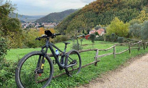 велопрогулка рядом с Абано-Терме