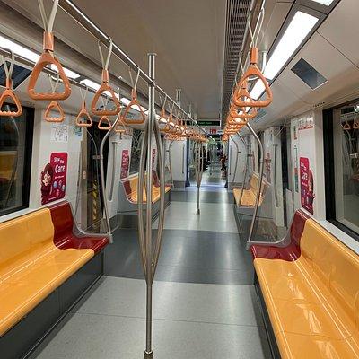 Inside SMRT train