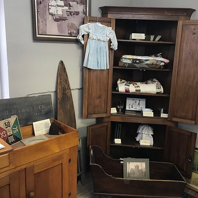 The museum contains many historic items donated by local families.