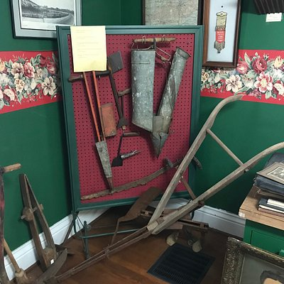 Agricultural tools used years ago in Anderson County are on display in the museum.