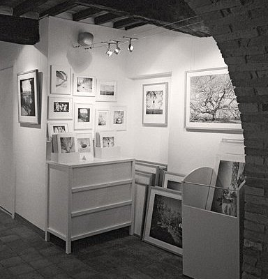 a small corner in the first room of the gallery