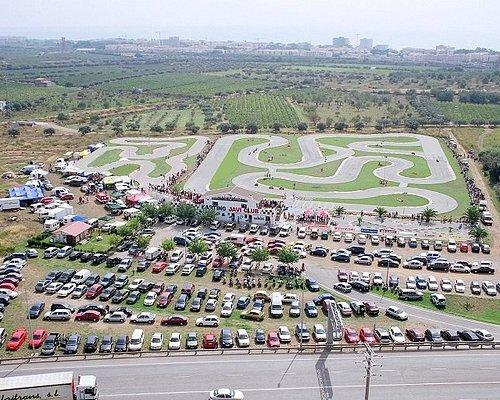 Fantástica foto aérea del karting Comaruga