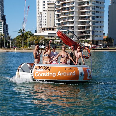 Its bikinis and shorts on the Coasting Around boat hire.  Bring the sunscreen