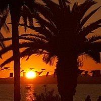 couché du soleil au restaurant belle vue hammamet resa:+216 55 312 915