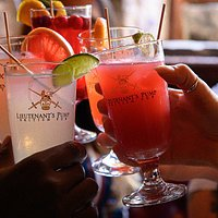 We offer a wide selection of cocktails.