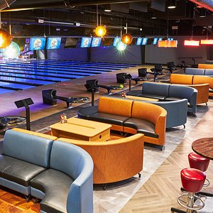 Bowl in comfort with friends and family. Automatic bumpers, easy scoring and fun games. Lane side service allows dining from our made-from-scratch menu with great burgers, sandwiches and pizzas.