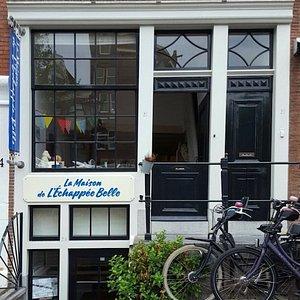 Notre entrée au 2A- sous, Spiegelgracht, Amsterdam