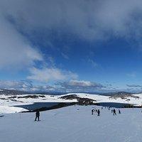 スキー場からの眺め