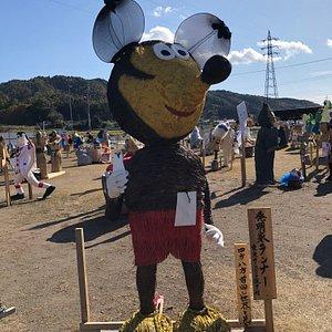 Mickey Mouse (わらアート) かかし祭り
