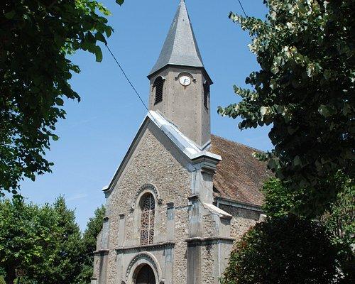 Façade ouest vue depuis l'Avenue de l'Eglise