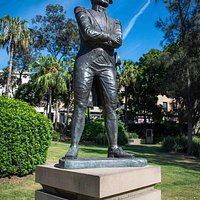 Near Cadmans Cottage in The Rocks, a statue of Vice Admiral William Bligh, in command of HMS Bounty during the famous mutiny; Bligh later became governor of New South Wales. (AlpinerHut)