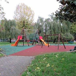 Una delle aree-gioco per i bambini