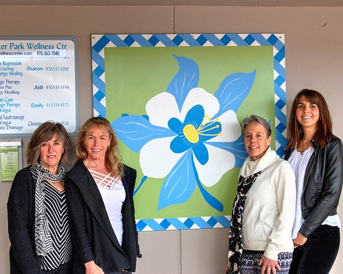 The ladies of the WP Wellness Center outside their office door