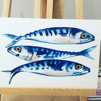 Porthcurno Mackerel by Sarah Bell
