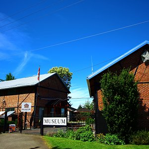 The museum grounds have two historic brick and steel powerhouse buildings