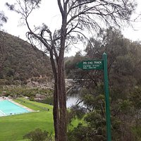End of track when travelling into Cataract Gorge