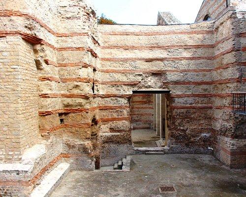Musée De Cluny , Thermes romains vu du Frigidarium , Roman thermal baths seen of Frigidarium