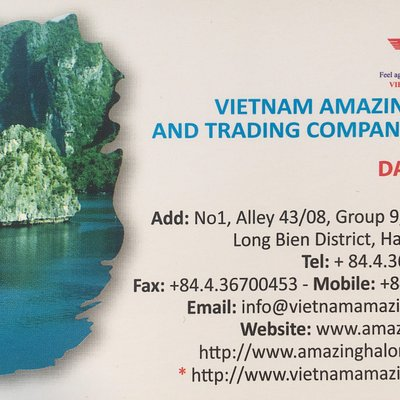 ATTENTION: Vietnam Amazing Travel Co., Ltd is exclusively ONLINE company satisfying clients for ten years.  Do not  be tricked into buying services from imposters who have set up booking offices in the Hanoi old quarter using our website and our Trip Advisor reputation to sell fraudulent tour packages.  To avail yourself of our services contact us using only the contact information found on our websites.