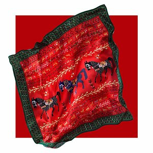 silk scarf with Armenian traditional ornaments