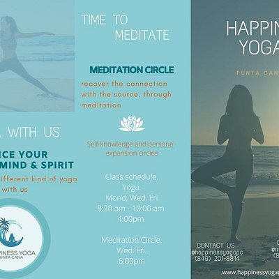 If you are visit bávaro-punta cana take a time to training your mind and body. Come to Happiness Yoga!!! Call us