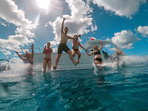 Jump in!  Join one of our Private Boat Charters in Punta Cana for the best day on the water!  Private boat, private Guide, Private food and drink.  All That is missing is you!