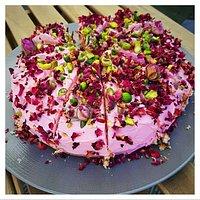 Vegan Rose & Pistachio Cake