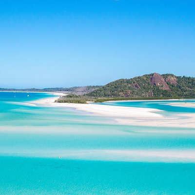 View of Whitehaven Beach from Hill Inlet Lookout