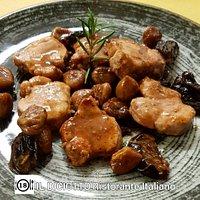 Filetto di maiale con castagne e prugne