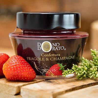 confettura fragole & champagne DONO DORATO