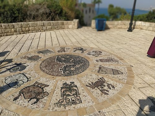 Zodic  sign mosaic. Old Jaffa  City The mosaic was created by Varda Ghivoly, Ilan Gelber and Navot Gil, all residents of Old Jaffa.