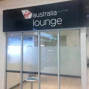 The entrance doorway into the Virgin Lounge in Adelaide.