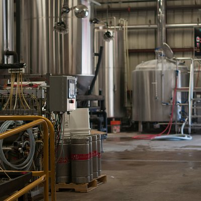 A view of our brewhouse floor.