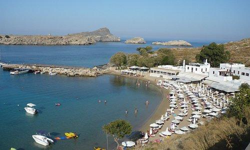 """petite plage """"pallas beach"""" à Lindos (14 octobre)"""