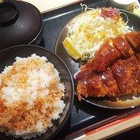 Tonkatsu and chicken