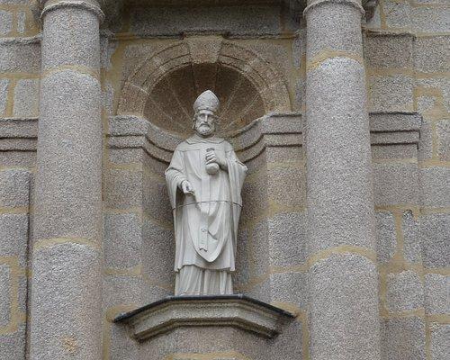 Détail de la façade de la chapelle Sainte-Catherine