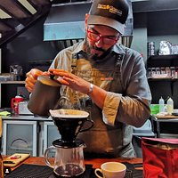 Amael is the best barista in Panama City, he will carefully recommend you the best coffee, according to your taste and will prepare it selecting the best brewing method to achieve the best flavor for your cup. I bet you will come back for the coffee.