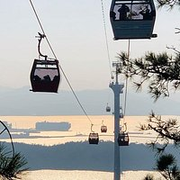 "Mokpo Marine Cable Car - a ""must do"" in Mokpo. The views from the top are stunning and give you an overview of why Mokpo was and is an important port city in Korea."
