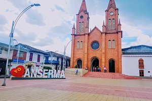 Anserma  Caldas Colombia, in the coffee region and in the middle of the #andes hills. One of the top ten oldest towns in Colombia (480+ years).