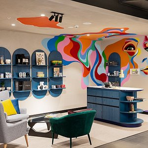 Reception and retail design