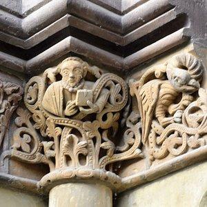 Detail der Außenfassade