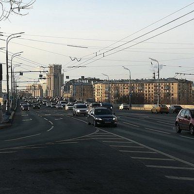 Большой Краснохолмский мост, вид от Таганского тоннеля.