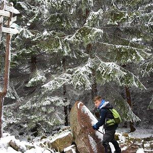 Mała Ostra Junction with Janusz Boissé monument