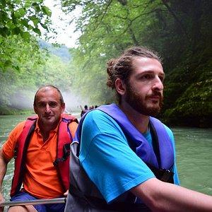 Boating Through Martvili Canyon