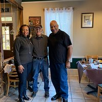 While staying overnight in Cleveland, GA we decided to have breakfast at Wendall' Country Cooking restaurant. We pass this restaurant several times a week as we run a wine tasting tour business from the Atlanta, GA area & happy we stopped. We were greeted immediately by Monroe, seated quickly by Marissa, and made to feel welcome by all. It is truly a family run business and the photo is of the owner Wendall with Chuck and I. Huge fluffy biscuits, country ham, grits, eggs & fried chicken. Yummy