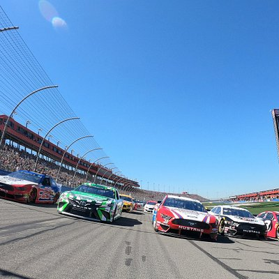 Five Wide NASCAR Racing at Auto Club Speedway