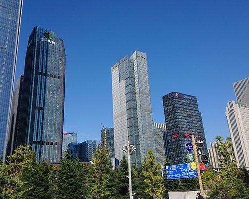 付近の景色はとにかく高層ビルだらけ、新都市街。