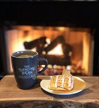 Fireside 'pop-tart' and coffee at The Dancing Bean!