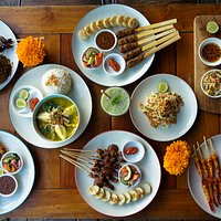 Selection of various dishes