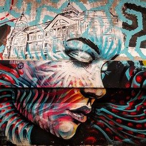 Mural of Romanian Artists Flaviu Roua & Corina Nani