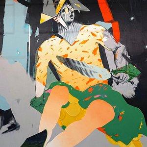 Mural of Romanian Artist Alex Baciu